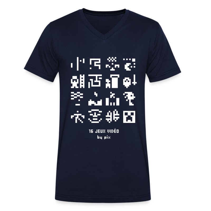 T-shirt-jeu 16·jeux·vidéo - T-shirt bio col V Stanley & Stella Homme