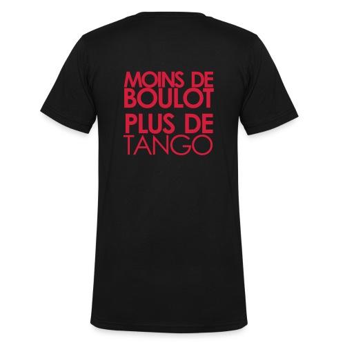 T-shirt H - MOINS DE BOULOT PLUS DE TANGO - T-shirt bio col V Stanley & Stella Homme