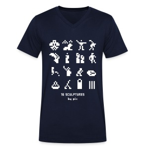 T-shirt-jeu 16·sculptures - T-shirt bio col V Stanley & Stella Homme