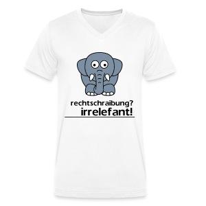 Motiv: Irrelefant (klassisch) | Druck: schwarz/grau/weiß | verschiedene Farben - Männer Bio-T-Shirt mit V-Ausschnitt von Stanley & Stella