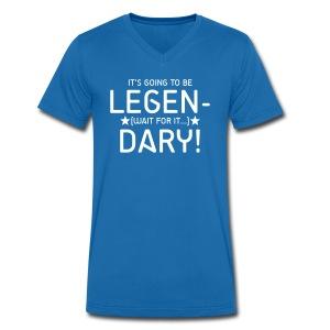 Legendary v t-shirt - Ekologiczna koszulka męska z dekoltem w serek Stanley & Stella