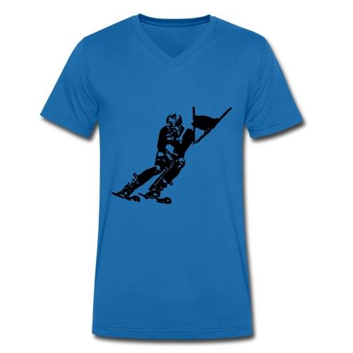 Skieur de descente - T-shirt bio col V Stanley & Stella Homme