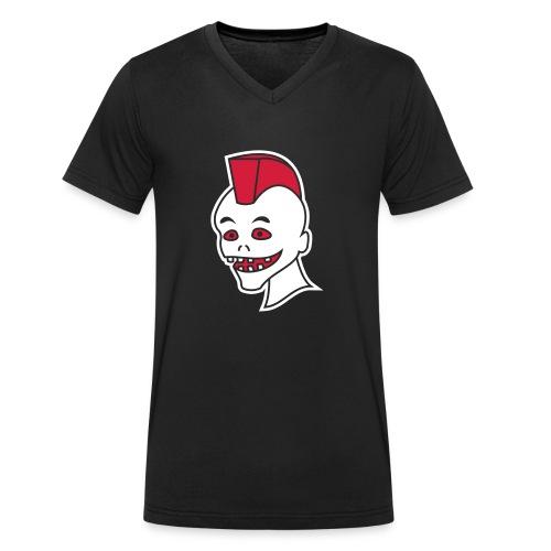 Vintage Retro Comic Zombie Halloween Skull Punk - Männer Bio-T-Shirt mit V-Ausschnitt von Stanley & Stella