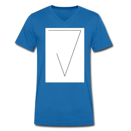 J (White) - Männer Bio-T-Shirt mit V-Ausschnitt von Stanley & Stella