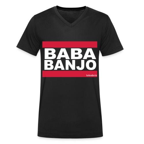 Baba Banjo schwarz - Männer Bio-T-Shirt mit V-Ausschnitt von Stanley & Stella
