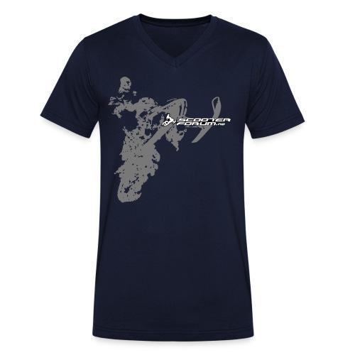 T-skjorte med v-krage - Økologisk T-skjorte med V-hals for menn fra Stanley & Stella