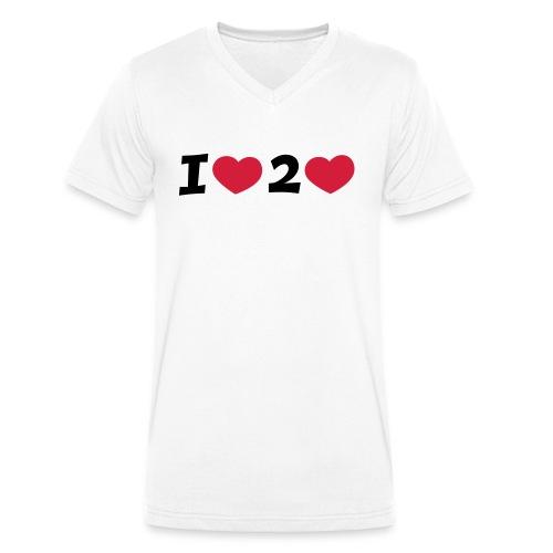 I LOVE TO LOVE T-Shirt - Männer Bio-T-Shirt mit V-Ausschnitt von Stanley & Stella