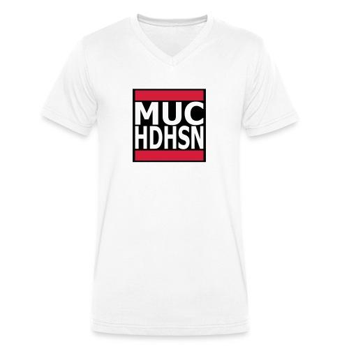 MUC HDHSN München Haidhausen für weiße Stoffe - Männer Bio-T-Shirt mit V-Ausschnitt von Stanley & Stella
