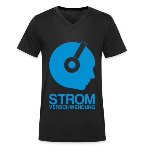 Logo Stromverschwendung  / Mann - Männer Bio-T-Shirt mit V-Ausschnitt von Stanley & Stella