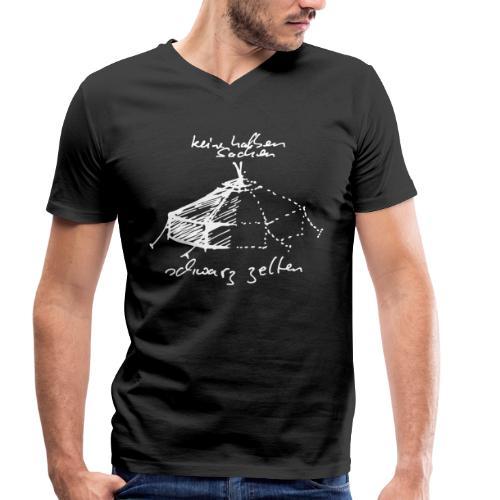 keine halben Sachen - Männer Bio-T-Shirt mit V-Ausschnitt von Stanley & Stella