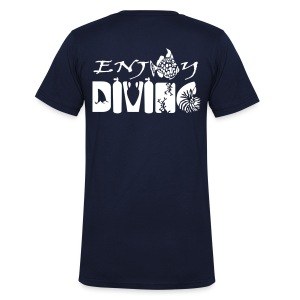 Enjoy Diving-Col V-Imp Flex - T-shirt bio col en V Stanley & Stella Homme