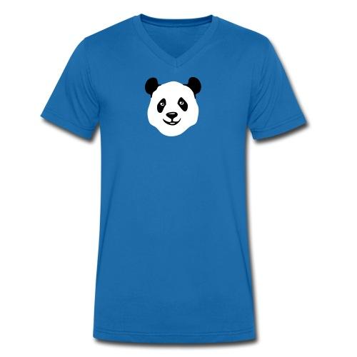 tier t-shirt panda teddy bär bärchen süß niedlich gesicht - Männer Bio-T-Shirt mit V-Ausschnitt von Stanley & Stella