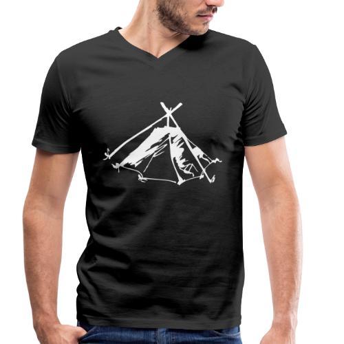 Wieviel Zelt braucht der Mensch? - Kothe - Männer Bio-T-Shirt mit V-Ausschnitt von Stanley & Stella