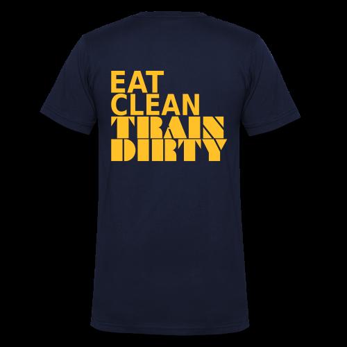 Eat Clean Train Dirty - Männer Bio-T-Shirt mit V-Ausschnitt von Stanley & Stella