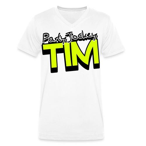 Party Jockey Tim Shirt - Mannen bio T-shirt met V-hals van Stanley & Stella