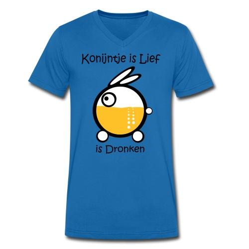 Dronken - Mannen bio T-shirt met V-hals van Stanley & Stella