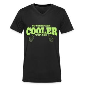 Cooler Typ - Männer Bio-T-Shirt mit V-Ausschnitt von Stanley & Stella
