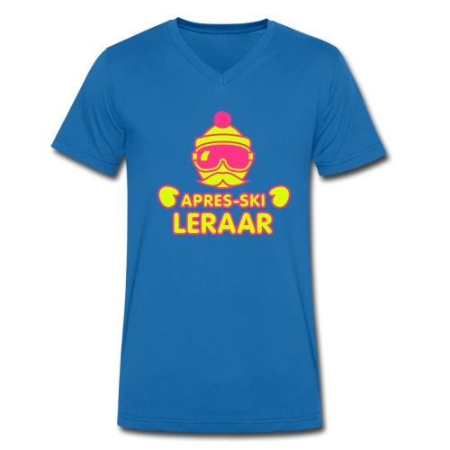 retro hipster apres-ski leraar - Mannen bio T-shirt met V-hals van Stanley & Stella