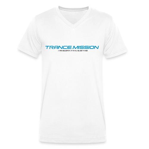 Trance.Mission (m) V cut (white) - Männer Bio-T-Shirt mit V-Ausschnitt von Stanley & Stella