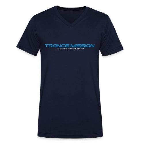 Trance.Mission (m) V cut (navy) - Männer Bio-T-Shirt mit V-Ausschnitt von Stanley & Stella