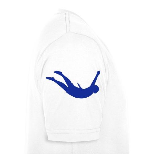 Splashdiving Logo V-Kragen T-Shirt mit Springer auf dem Ärmel - Männer Bio-T-Shirt mit V-Ausschnitt von Stanley & Stella