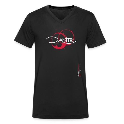 T-shirt V-Neck Men november red - Männer Bio-T-Shirt mit V-Ausschnitt von Stanley & Stella
