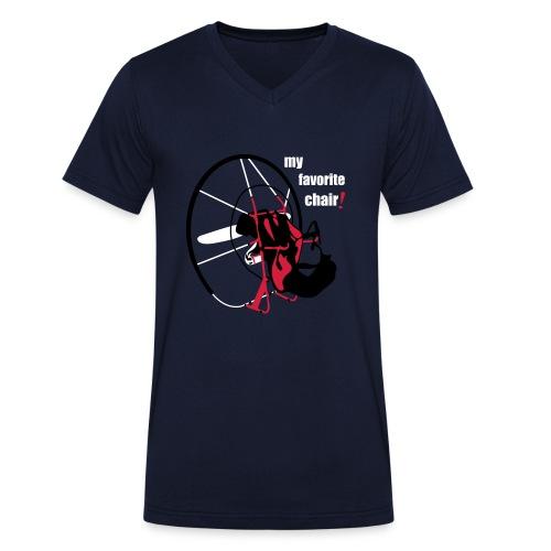 my favorite chair. Grey - Männer Bio-T-Shirt mit V-Ausschnitt von Stanley & Stella