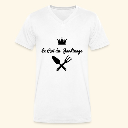 Le roi du jardinage - T-shirt bio col V Stanley & Stella Homme