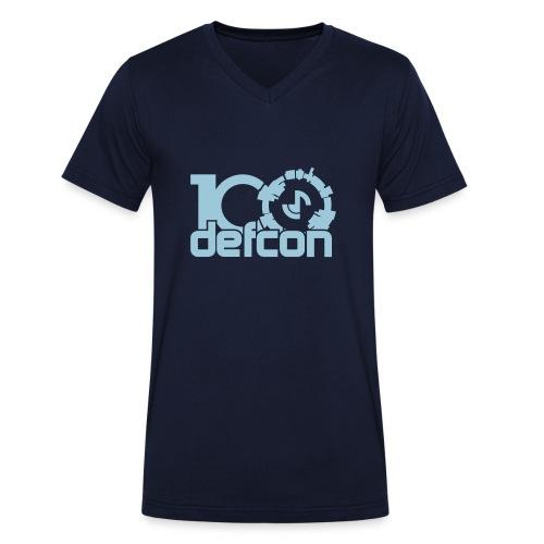 Defcon 100 v-neck sky blue logo - Men's Organic V-Neck T-Shirt by Stanley & Stella