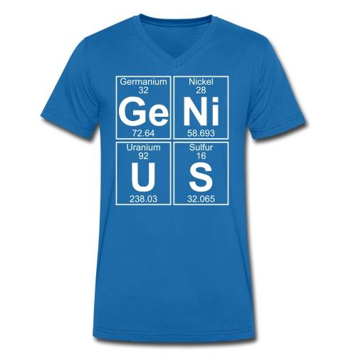 Ge-Ni-U-S (genius) - Men's Organic V-Neck T-Shirt by Stanley & Stella