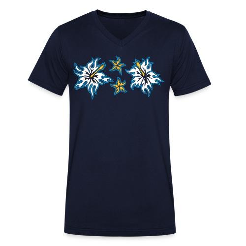 Flaming - Männer Bio-T-Shirt mit V-Ausschnitt von Stanley & Stella