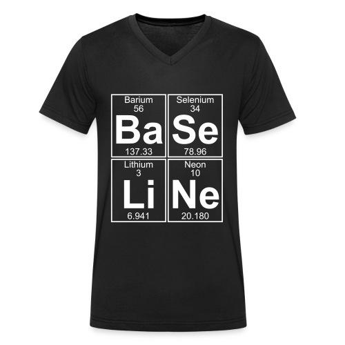 Ba-Se-Li-Ne (baseline) - Men's Organic V-Neck T-Shirt by Stanley & Stella