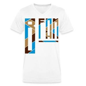 B-Fam T-Shirt Diversity (White) - Men's Organic V-Neck T-Shirt by Stanley & Stella