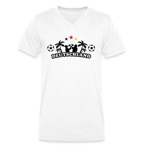 Deutschland Fußball - Männer Bio-T-Shirt mit V-Ausschnitt von Stanley & Stella