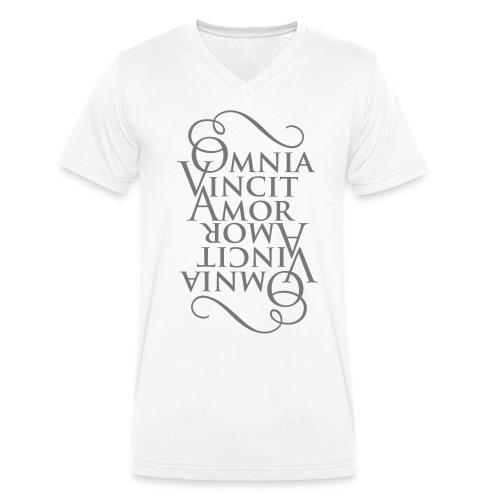 Omnia Vincit Amor - T-shirt ecologica da uomo con scollo a V di Stanley & Stella