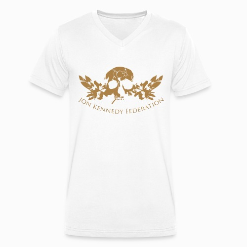 Men's Organic V-Neck T-Shirt by Stanley & Stella - we're just waiting for you now,useless wooden toys,tru thoughts,trip hop,take my drum to england,jon kennedy federation,jon kennedy,grand central,bonobo,14