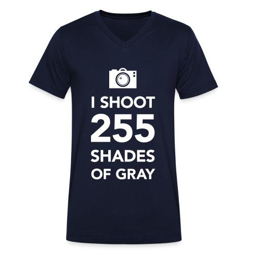 255 shades of gray - Mannen bio T-shirt met V-hals van Stanley & Stella