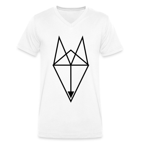 FOX Triangle - BASTA - Men's Organic V-Neck T-Shirt by Stanley & Stella