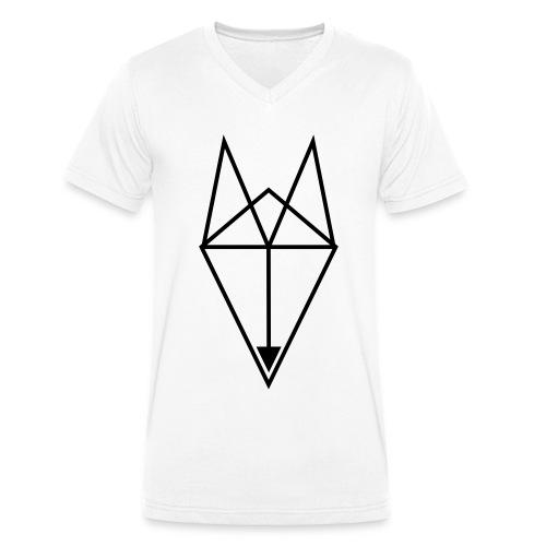 FOX Triangle - BASTA - Men's Organic V-Neck T-Shirt by Stanley & Stella