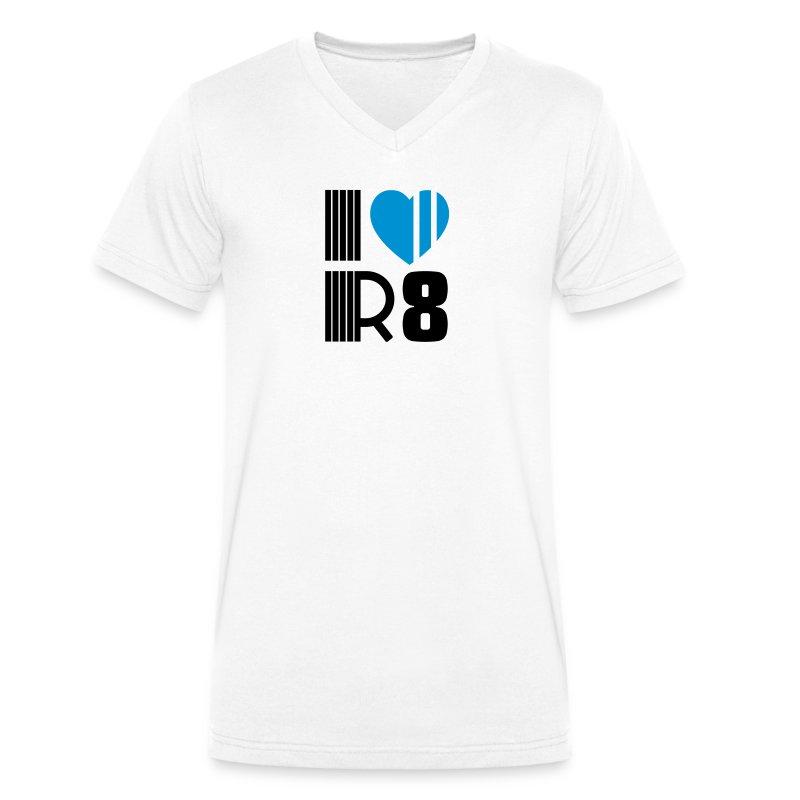 I love R8 - J'aime la R8 Gord - T-shirt bio col V Stanley & Stella Homme