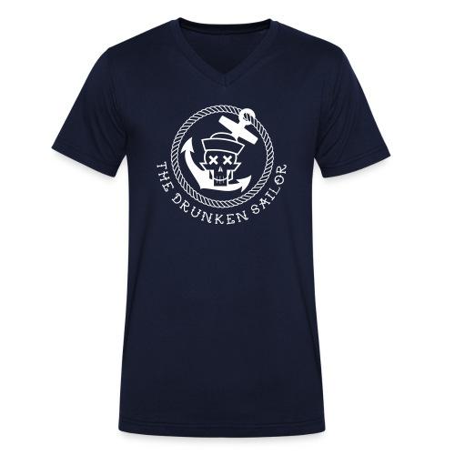 Drunken Sailor V neck - Rang Skipper - Männer Bio-T-Shirt mit V-Ausschnitt von Stanley & Stella