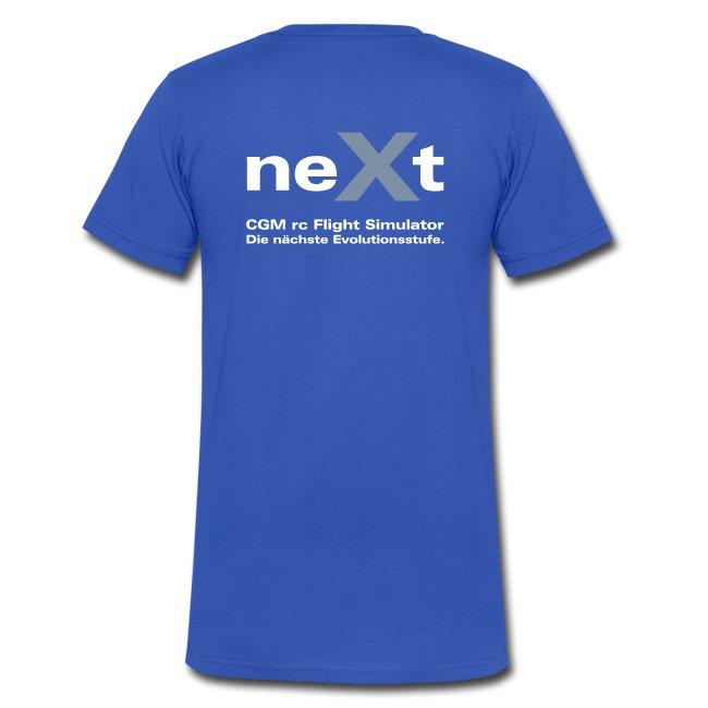 neXt T-Shirt - V-Ausschnitt blau