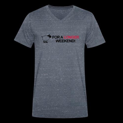 Longer Weekend - Männer Bio-T-Shirt mit V-Ausschnitt von Stanley & Stella