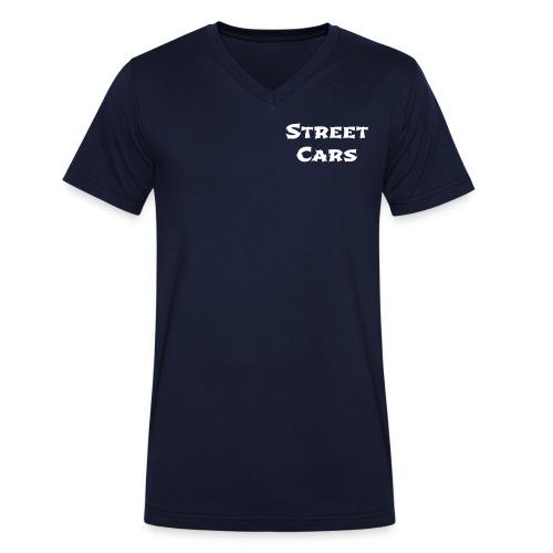 Street Cars - V-Hals Man (Wit) - Mannen bio T-shirt met V-hals van Stanley & Stella
