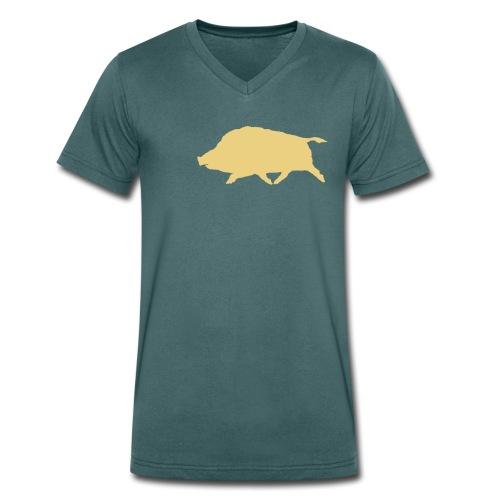 Wildschwein Flex - Männer Bio-T-Shirt mit V-Ausschnitt von Stanley & Stella
