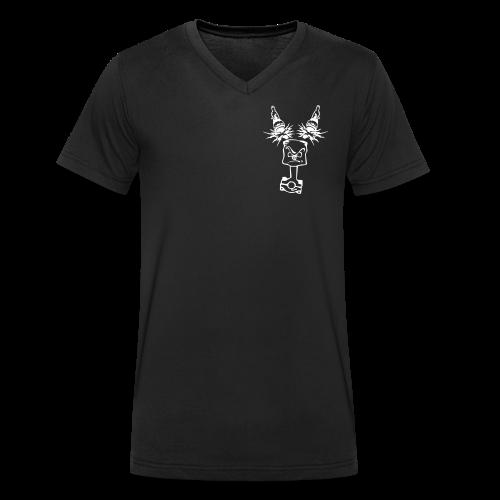 T-Shirt mit Emblem vorne (Männer) - Männer Bio-T-Shirt mit V-Ausschnitt von Stanley & Stella