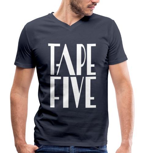 TAPE FIVE logo grande, male - Men's Organic V-Neck T-Shirt by Stanley & Stella