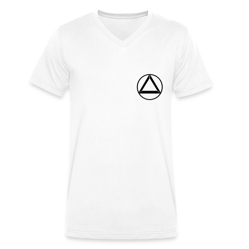 """V-Neck """"Crew"""" White - Männer Bio-T-Shirt mit V-Ausschnitt von Stanley & Stella"""