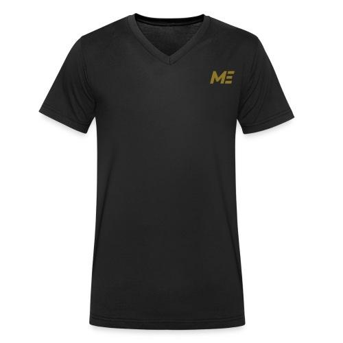 ME Premium Mens Shirt black/gold - Männer Bio-T-Shirt mit V-Ausschnitt von Stanley & Stella