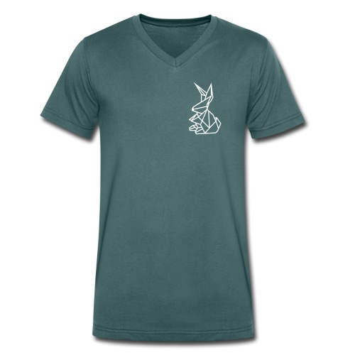 Oniko Origami - Männer Bio-T-Shirt mit V-Ausschnitt von Stanley & Stella